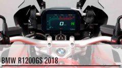 La BMW R1200GS 2018 con instrumentación 100% digital