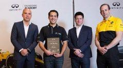 Le da INFINITI a José Pablo Ávalos, la oportunidad única de trabajar en la Fórmula 1™