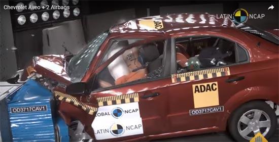 Muestra Mejoras Mnimas El Chevrolet Aveo Al Agregar Dos Bolsas De