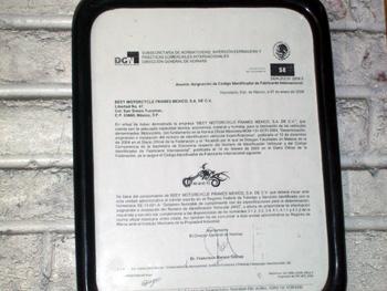 En México existen solamente dos empresas certificadas que son Beey Motorcycle y otra que se encuentra en Guadalajara la de Joel Bonavel que tiene Mayas Chopper