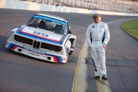 El BMW 3.0 CSL Grupo auto No. 59 de 4 de carreras con conductor Brian Redman, ganadores de los 1976 24 Horas de Daytona.