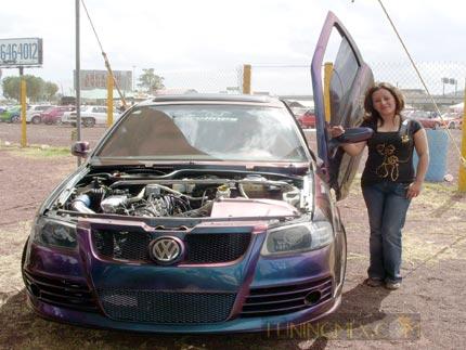 Paty Arellano es otra caso de éxito su auto fue modificado en un programa televisivo