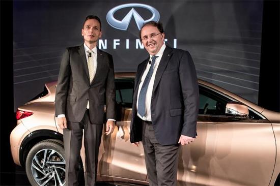 Roland Krüger, presidente de Infiniti Motor Company Ltd, y François Goupil de Bouillé, vicepresidente en Europa, Medio Oriente y África (EMEA)