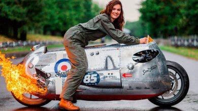 Photo of BMW R1200 R Spitfire: Una dragster con mandos de avión y 'aliento a fuego'