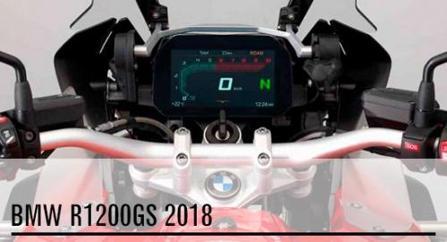 Photo of La BMW R1200GS 2018 con instrumentación 100% digital
