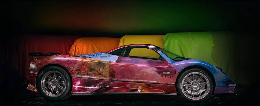 Photo of Proyecto de arte en color de Foglizzo, transforma un Pagani Zonda S en una obra maestra del arte