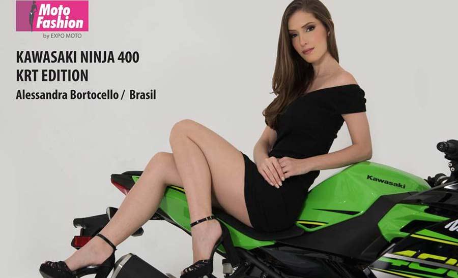 Photo of El verde está de moda con Alessandra y la Kawasaki Ninja 400 KTR Edition
