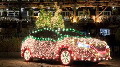 Photo of Se convierte Nissan LEAF en un brillante árbol de Navidad