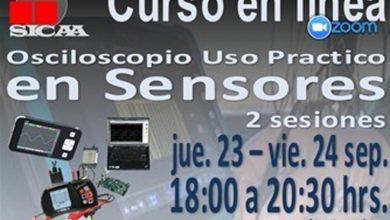 Photo of SICAA Curso en Línea: Osciloscopio uso práctico en sensores