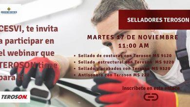 Photo of CESVI México invita al WEBINAR GRATIS – Selladores, Teroson