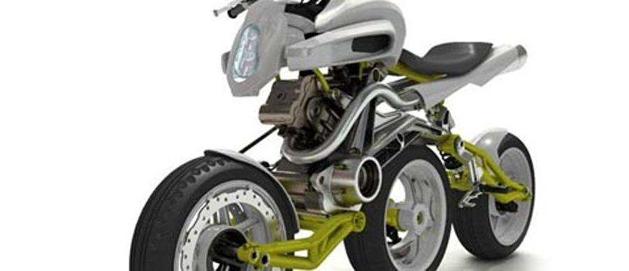 Photo of A3W un concepto de moto con tres ruedas