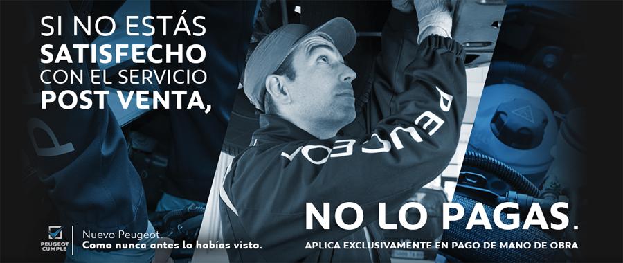 """Photo of Presentó Peugeot: """"Si no estás satisfecho con el Servicio Post Venta, NO lo pagas"""""""