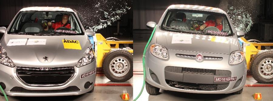 Photo of Comparación de estructuras tras impacto lateral: Fiat New Palio vs Peugeot 208